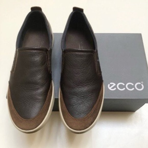 ECCO Men's Soft 7 Leather Slip-on Sneaker EU 45
